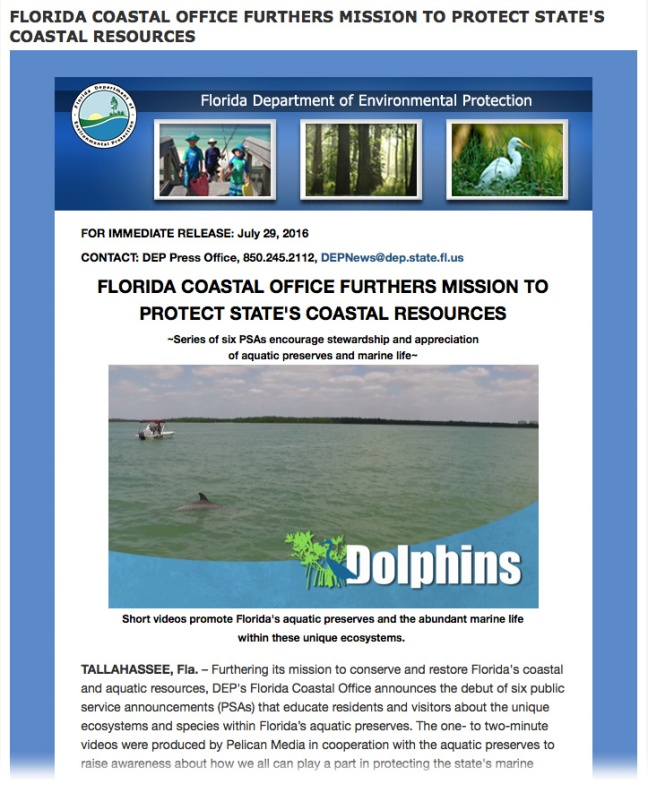 DEP Video Press Release